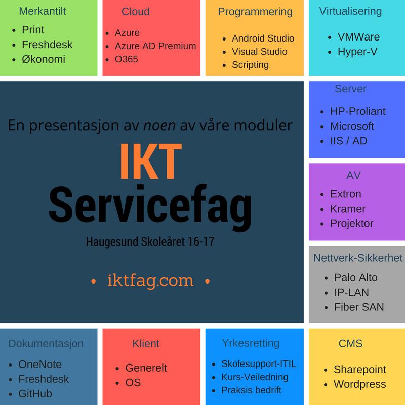 Satningsområder IKT-Servicefag