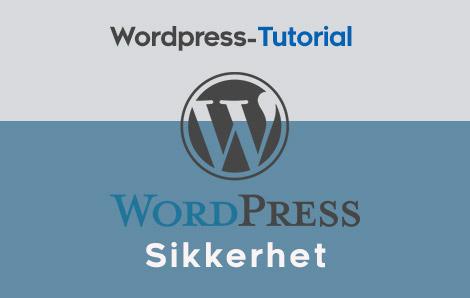 Sikkerhet WordPress